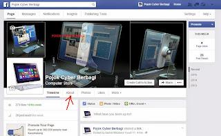Klik About Fans Page Facebook