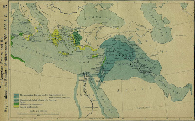 Carte de l'Empire Assyrien