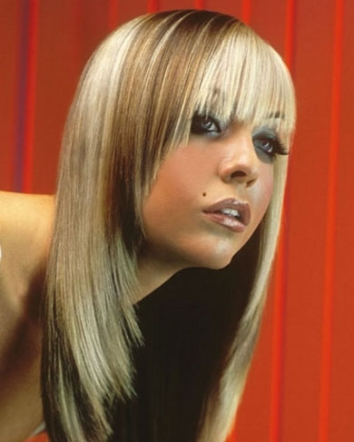 Two-tone Blonde Hair Style 2014