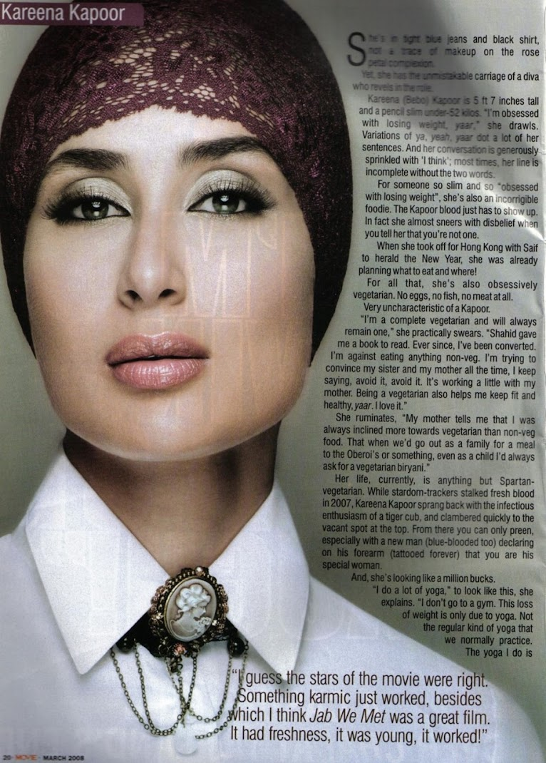 Kareena kapoor Unseen Magazine Scan with Bandana