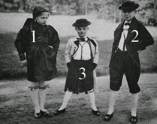 Elisabeth, Georg Moritz et Friedrich Ernst de Saxe-Altenbourg