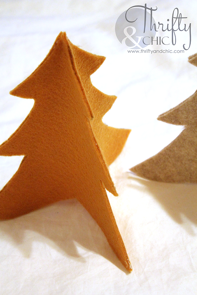 DIY Knock-off Felt Christmas Trees