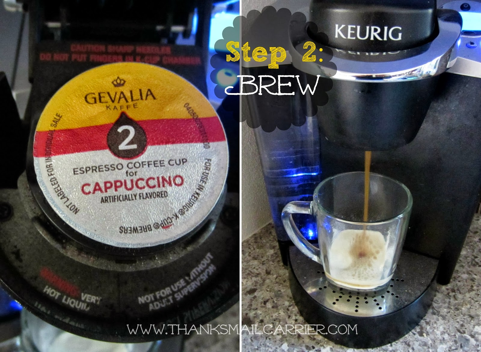 cappucino brewing