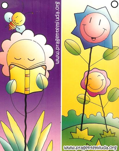 marca página de primavera para imprimir