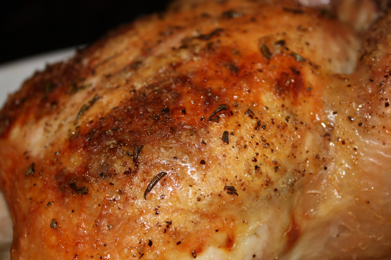 OH MY GOSH THIS CHICKEN IS SOOO GOOD! The skin is salty juicy and crispy and the chicken breast is perfectly tender not one bit dry and is bursting with ... & Rosemary Roasted Chicken with Vegetables - Lindsey McClave