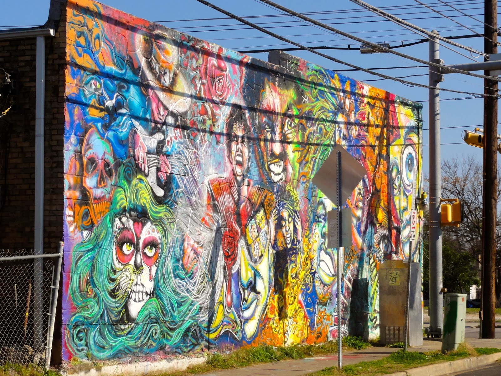 Exploring austin 39 s street art murals mosaics free fun for Dallas mural artists