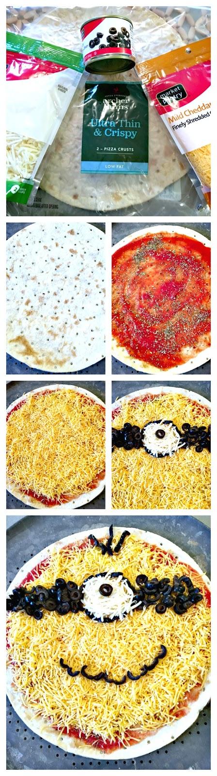 Minions Movie Release Party, Free Target Gift Card, Minion Pizza Recipe, Minion fruit tray recipe, Minion ornament tutorial