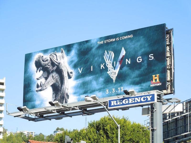 Vikings season 1 TV billboard
