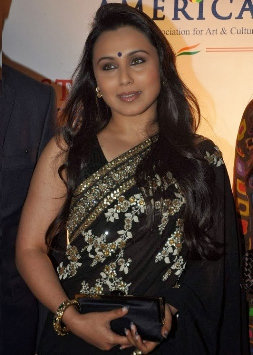 Rani Mukherjee Black Saree