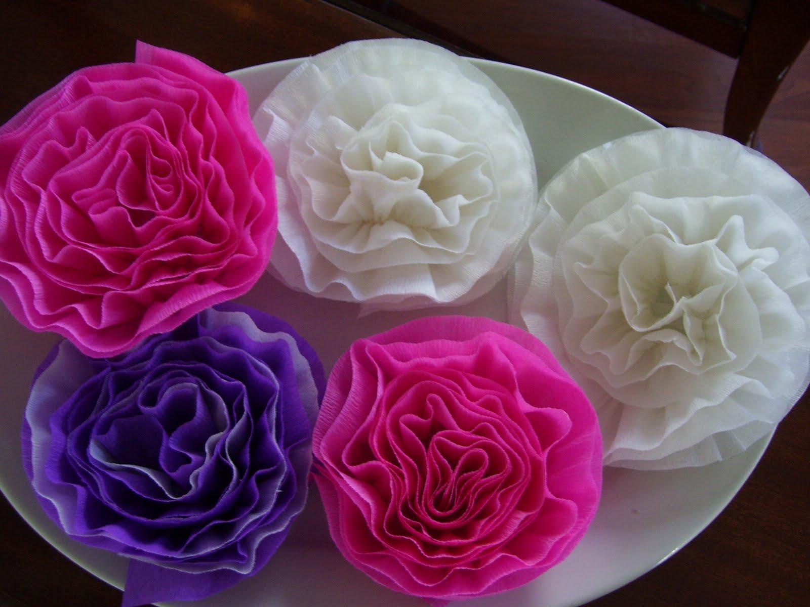 My Life on Cedar Street crepe paper flowers