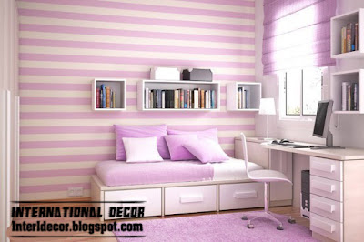girls bedrooms striped wall paint design and style purple striped paints