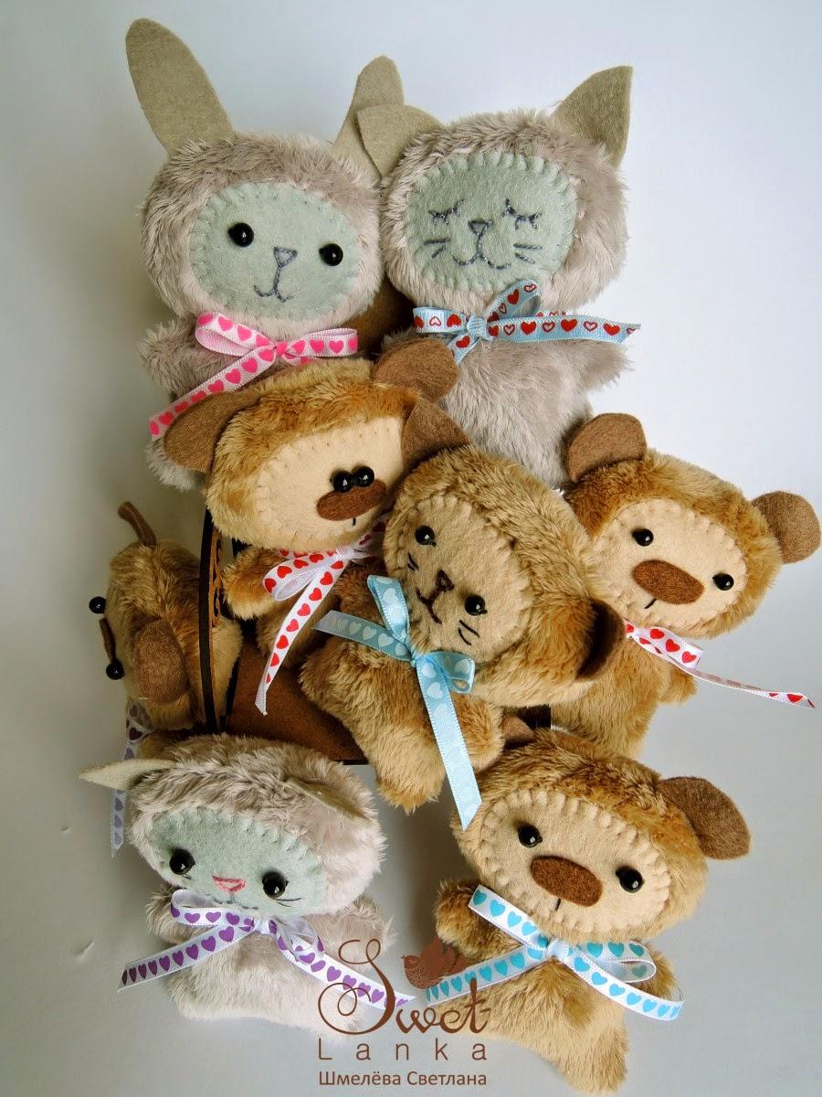 игрушки зайки мишки котики