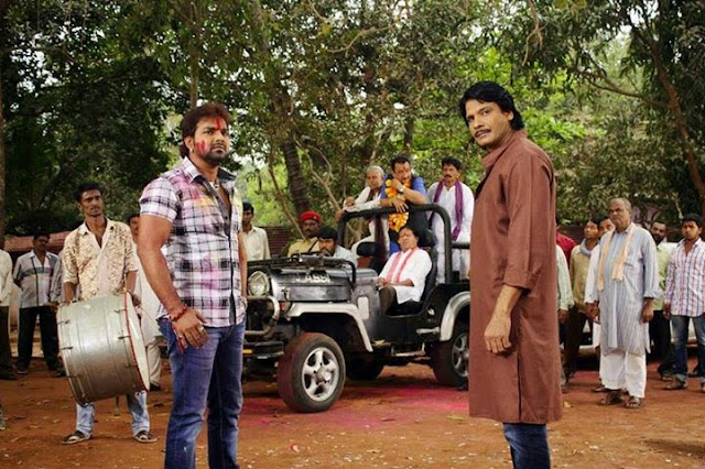 Pawan Singh and Viraj Bhatt Sangram Shooting Photos