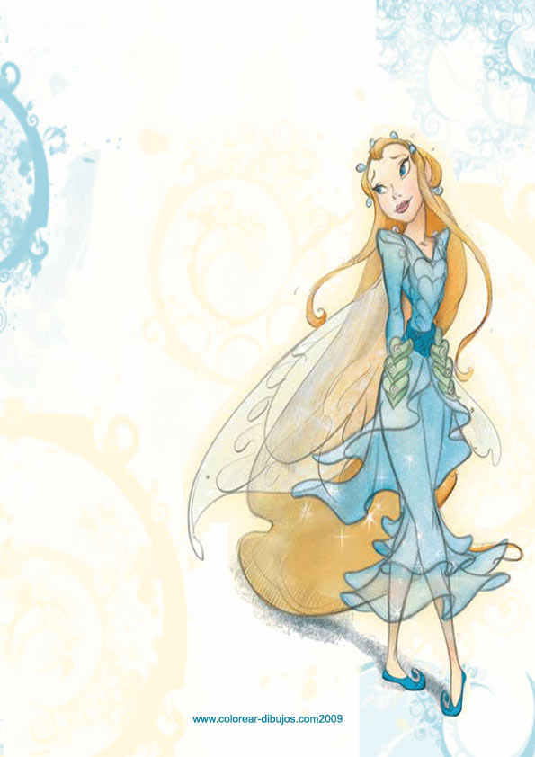 rani the fairy coloring pages - photo#8