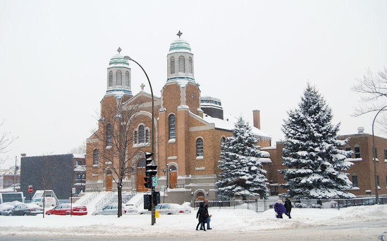 Iglesia en la nieve by José Luis Ávila Herrera