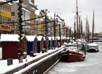 Mercado de Navidad en Nyhavn