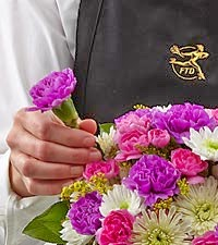 The florist desigend bouquet