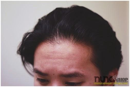 1. Gambar Rambut Sebelum Menggunakan Minyak Rambut Pomade Admiral Acak-Acakan