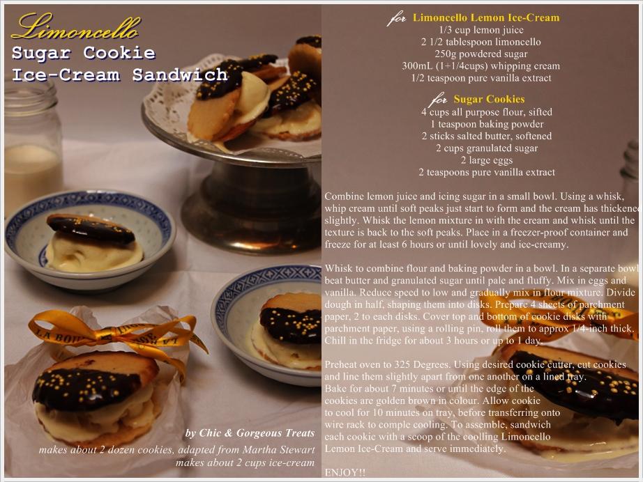 ... Treats: Dessert Recipe: Limoncello Sugar Cookie Ice-Cream Sandwich