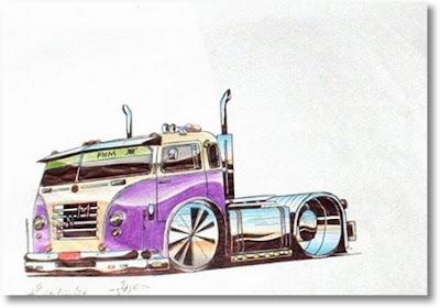 Desenhos Para Colori Caminhão tunado rabisco de caminhao tunado cavalinho desenhar