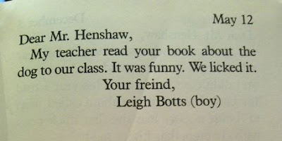 dear mr henshaw by beverly cleary