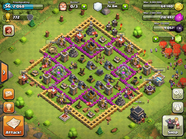 FreeAppsKing - Clash Of Clans Village - Level 56 - Clash Of Clans Guide - FreeApps.ws
