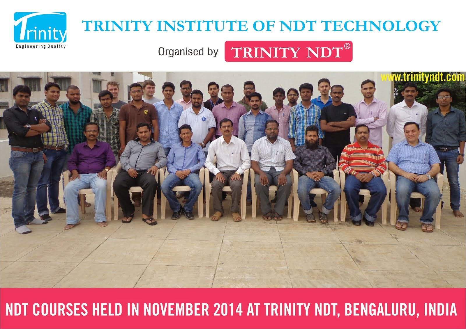 Participants - NDT Level II Courses held in India at Trinity NDT in November 2014