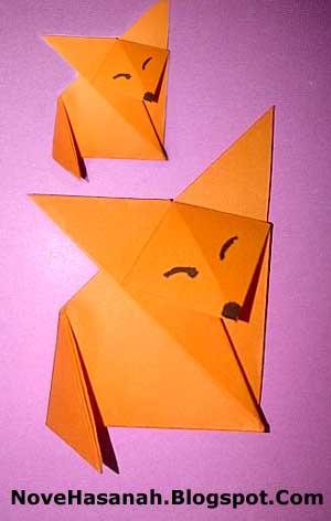 origami serigala untuk anak SD