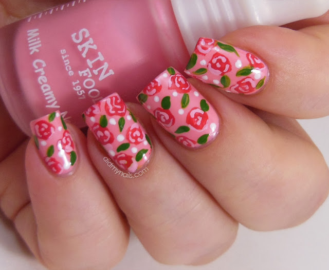 rose nail art on Skinfood PK006