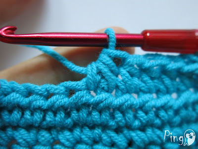 Half Double Crochet Decrease - step by step instructions by Pingo - The Pink Penguin