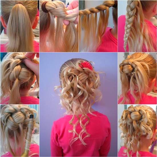 Coiffure mariage fillette cheveux longs