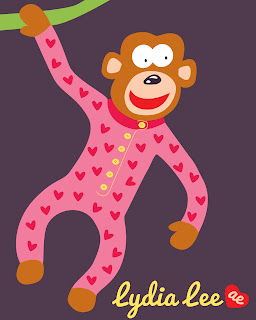 Cute Kids Monkey Pajamas PJs Icon Vector