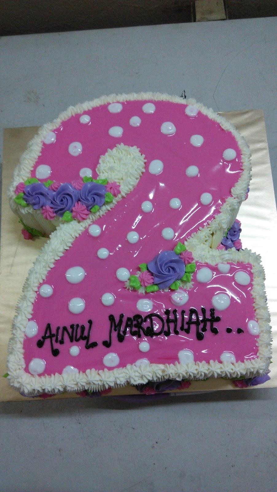 Jujucupcakes Number 2 Birthday Cake