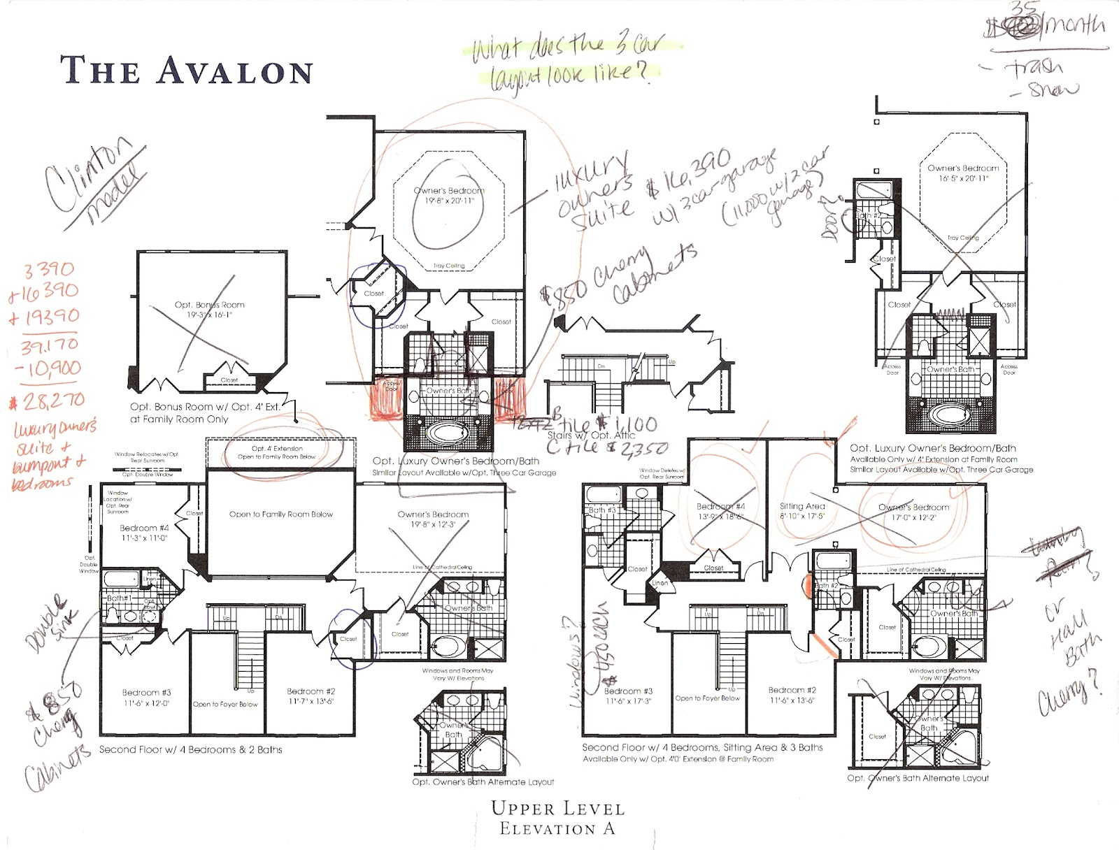 Building a ryan home avalon the beginning stages the options are adding up - Home design blueprints ...