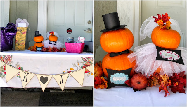 and speaking of fall how sweet is this falling in love bridal shower