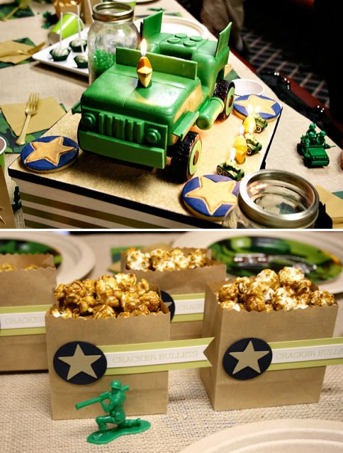 Kara 39 s party ideas green army man birthday party kara 39 s for Army theme party decoration ideas