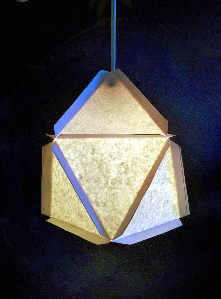 Modular Geometric Paper Lamps, 5 designs