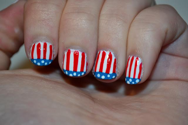 American Flag Nail Art by Elins Nails