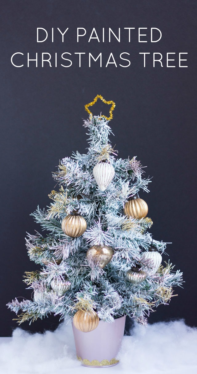these days artificial christmas trees come in every color imaginable from white to silver to pink but if youre looking to try out a different color of - How To Paint A Christmas Tree