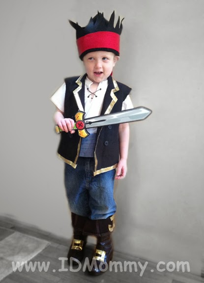 ID Mommy Projects DIY Jake and the Neverland Pirates Costume!  sc 1 st  ID Mommy & ID Mommy: ID Mommy Projects: DIY Jake and the Neverland Pirates Costume!