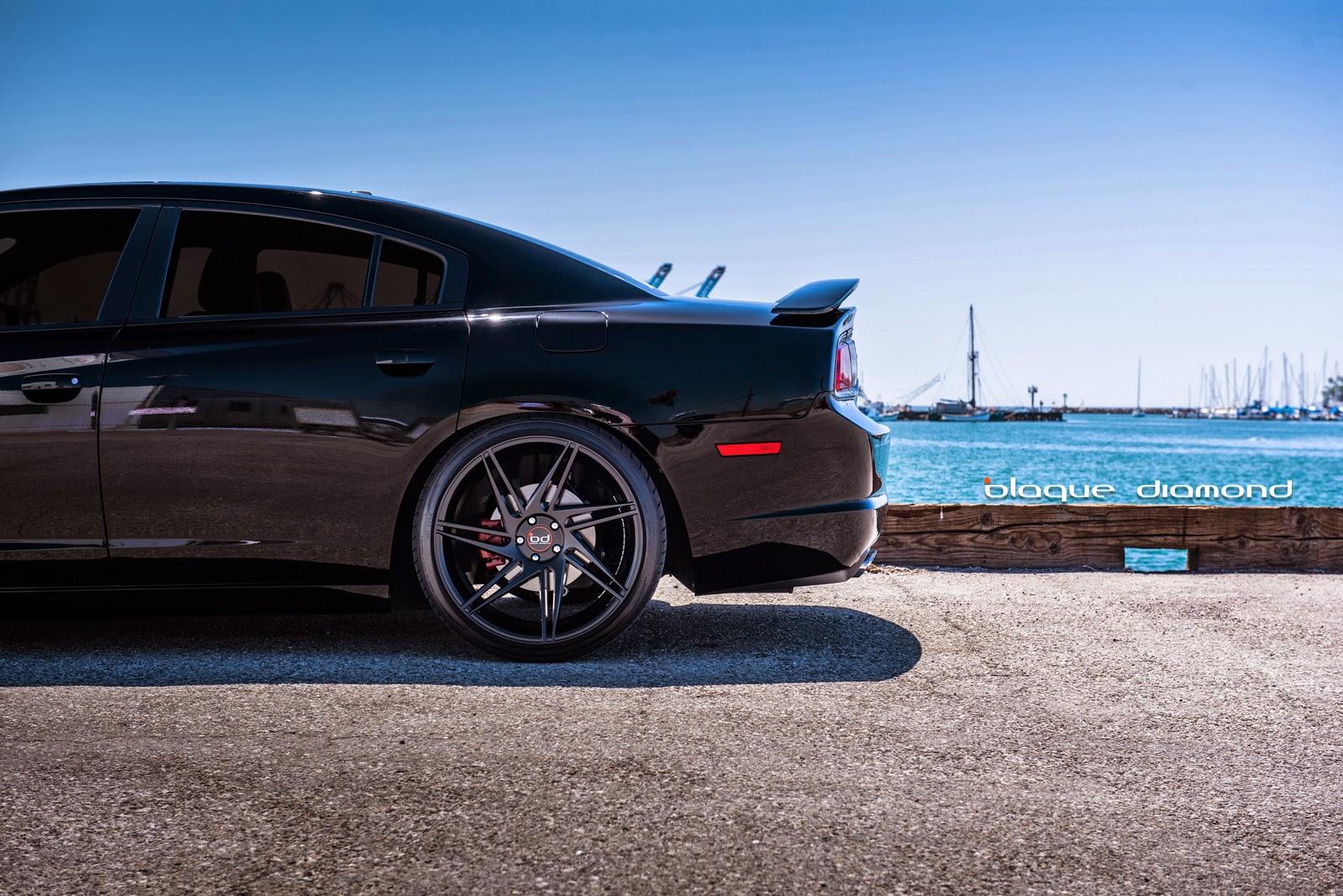 22 inch bd 1s in matte black - 2013 Dodge Charger Black Rims