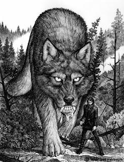 Loki and Fenrir, norse mythology