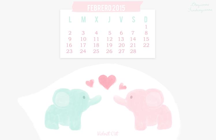 wallpaper calendario febrero 2015