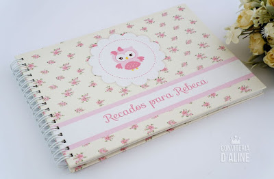 caderno personalizado corujinha