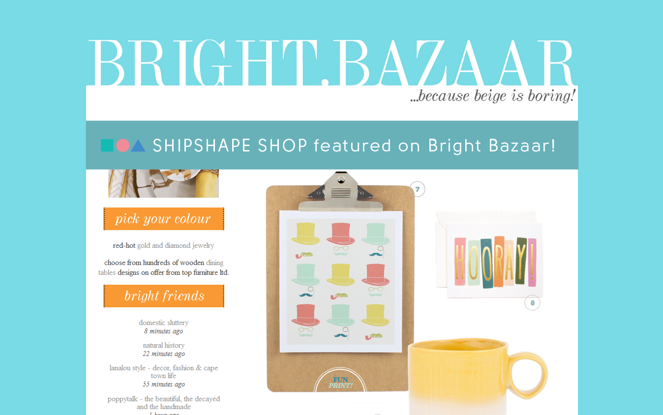 Shipshape Studio on Bright Bazaar
