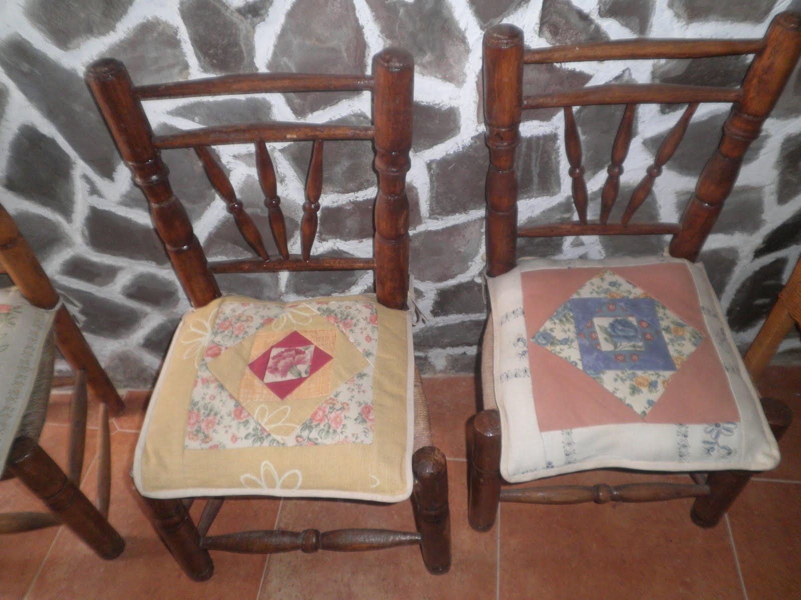 Manualidades pura cojines para silla - Cojines de sillas ...