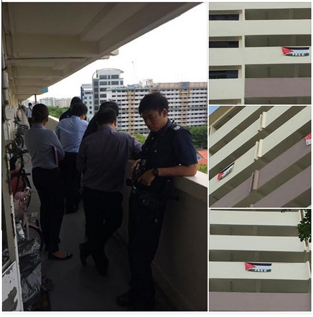 Polis Singapura Arah Turun Bendera Palestin