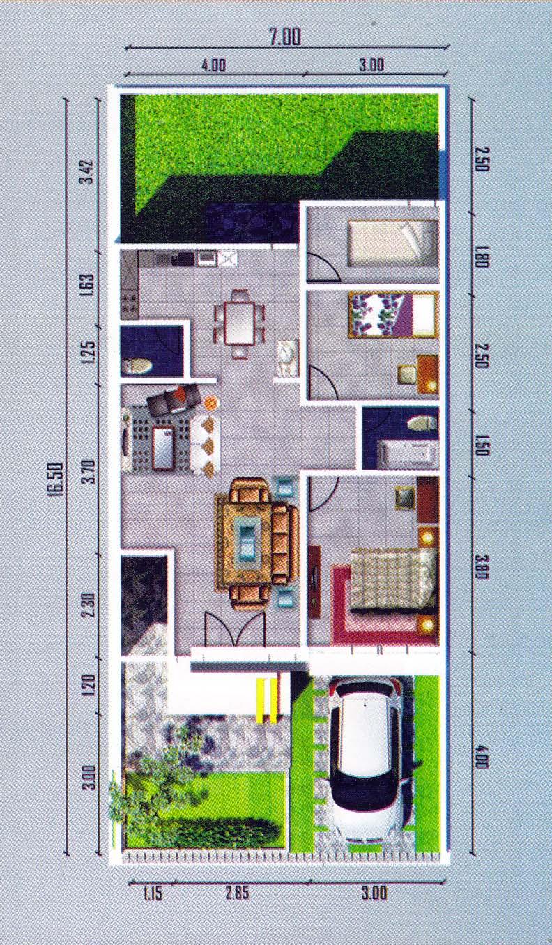 dijual rumah minimalis di medan johor type 65 116 info