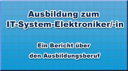 Ausbildung zum IT-System-Elektroniker/-in