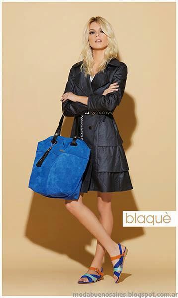 Blaque zapatos y camperas de cuero 2014.